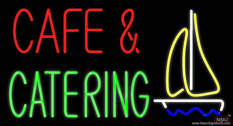 Cafe and Catering Logo Real Neon Glass Tube Neon Sign