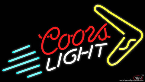 Coors Light Boomerang Beer Real Neon Glass Tube Neon Sign