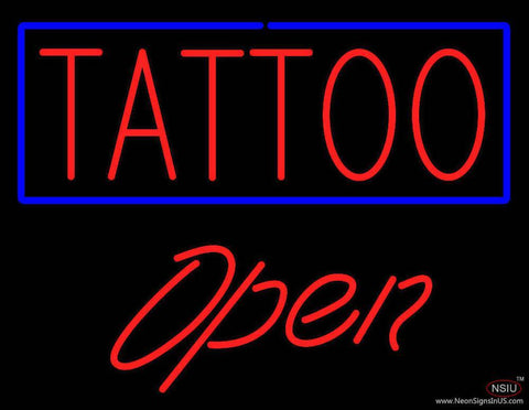 Tattoo Open Real Neon Glass Tube Neon Sign