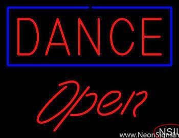 Red Dance Blue Border Open Real Neon Glass Tube Neon Sign