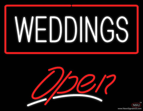 Weddings White Open red Real Neon Glass Tube Neon Sign