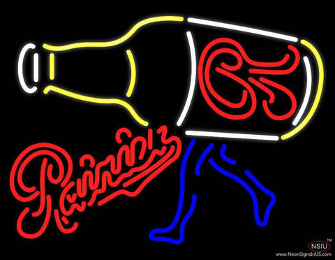Rainier Beer Wild Rainer Running Real Neon Glass Tube Neon Sign