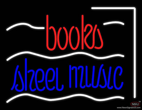 Books Sheet Music Real Neon Glass Tube Neon Sign