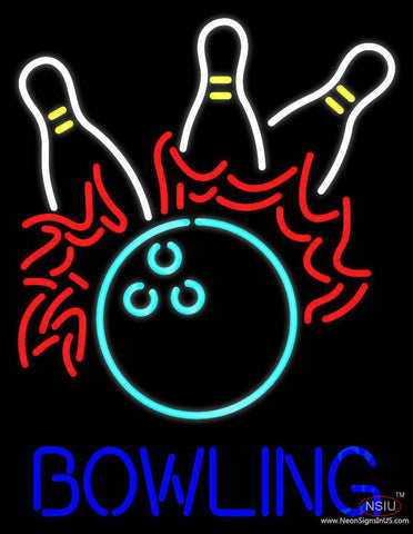 Bowling Fire Real Neon Glass Tube Neon Sign