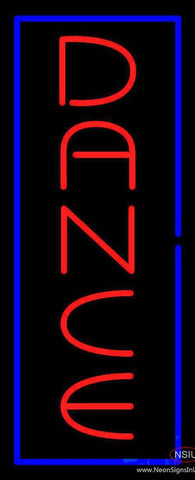 Vertical Red Dance Blue Border Real Neon Glass Tube Neon Sign