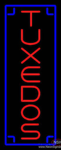 Tuxedos Vertical Real Neon Glass Tube Neon Sign