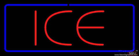 Red Ice Blue Border Real Neon Glass Tube Neon Sign