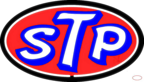 STP Oil TreATMent Richard Petty  Real Neon Glass Tube Neon Sign