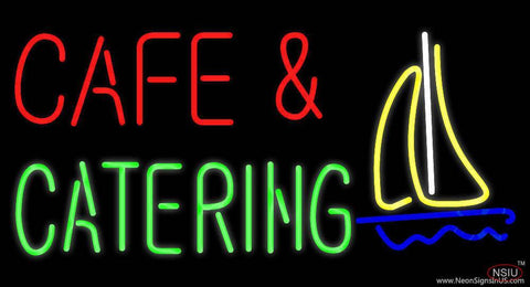 Cafe and Catering Real Neon Glass Tube Neon Sign