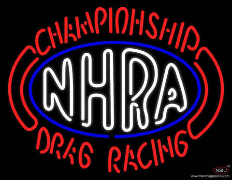 NHRA Championship Drag Racing Real Neon Glass Tube Neon Sign