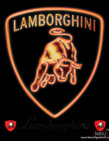 Lamborghini Gallardo Murcielago Diablo Real Neon Glass Tube Neon Sign