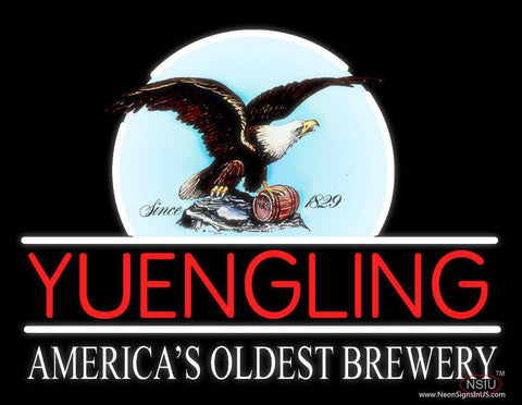 Yuengling Eagle Americas Oldest Brewery Beer Real Neon Glass Tube Neon Sign