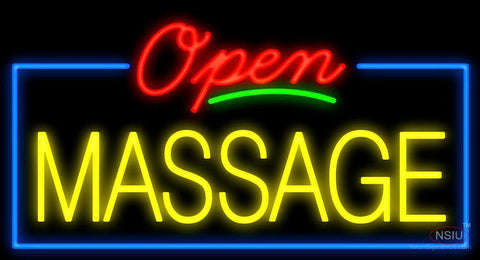 Open Massage Neon Sign