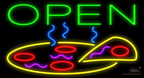 Open Pizza Neon Sign