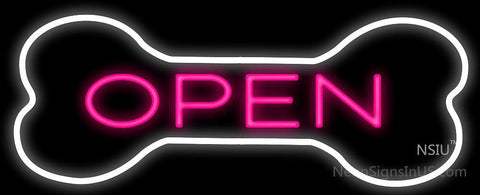 Open With Bone Neon Sign