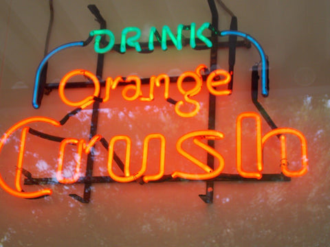 Orange Crush Handmade Art Neon Signs