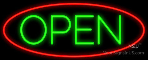 Oval Open Neon Sign