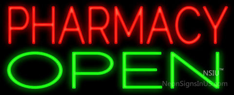 Pharmacy Open Neon Sign