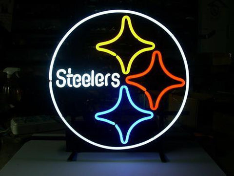 Pittsburgh Steelers Beer Bar Pub Gameroom Neon Light Sign