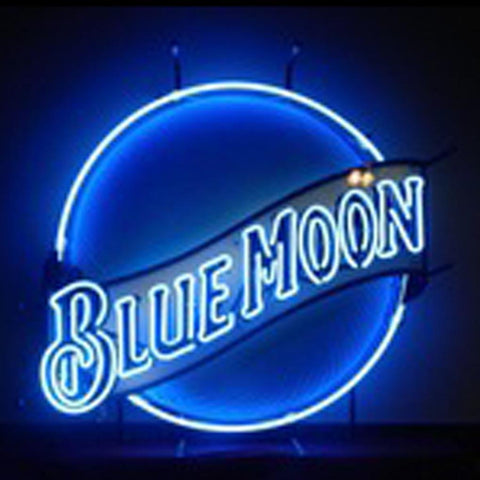 Neon Sign Blue Moon With Carving Board neon sign