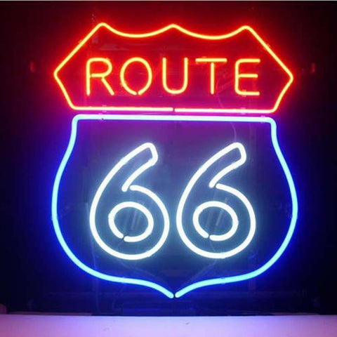 Professional  Route 66 Bar Beer Pub Store Display Garage New Neon Sign