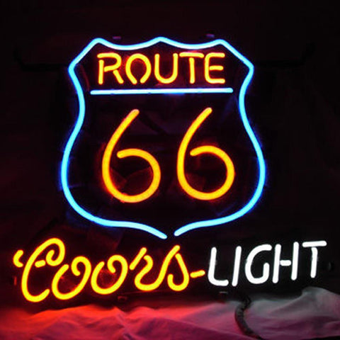 Professional  Route 66 Coors Beer Bar Open Neon Signs