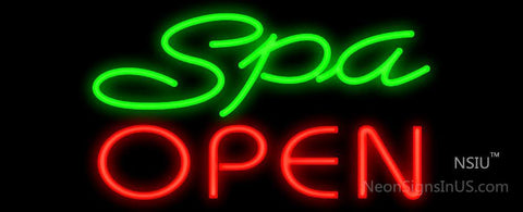 Spa Open Neon Sign
