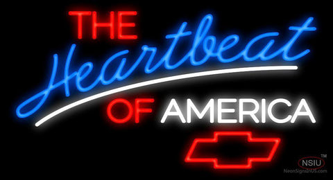 The Heartbeat Of America Chevrolet Neon Sign