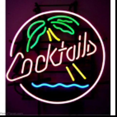 Tiki Bar Parrot Tropical Beach Neon Sign