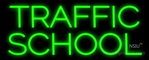 Traffic School Neon Sign