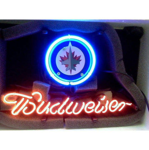 Winnipeg Jets Budweiser Neon Bar Sign