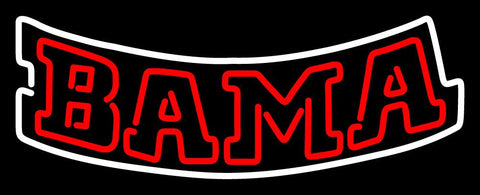 Alabama Crimson Tide Wordmark  Pres Logo NCAA Neon Sign