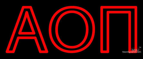 Alpha Omicron Pi Neon Sign