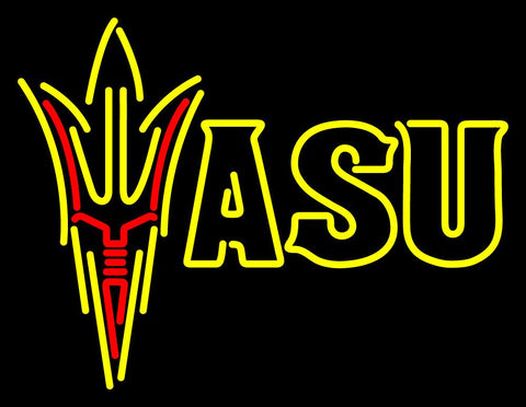 Arizona State Sun Devils Secondary  Pres Logo NCAA Neon Sign