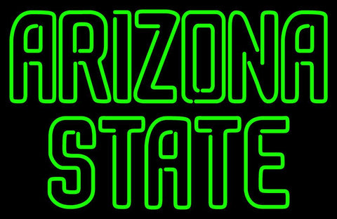 Arizona State Sun Devils Wordmark   Logo NCAA Neon Sign