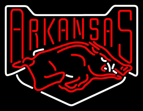 Arkansas Razorbacks Alternate   Logo NCAA Neon Sign
