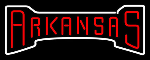 Arkansas Razorbacks Wordmark   Logo NCAA Neon Sign
