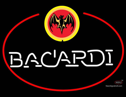 Bacardi Bat Oval Neon Rum Sign