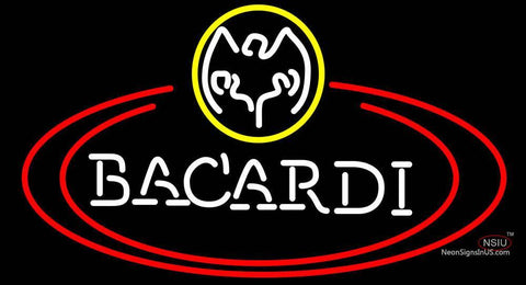 Bacardi Bat Two Oval Neon Rum Sign