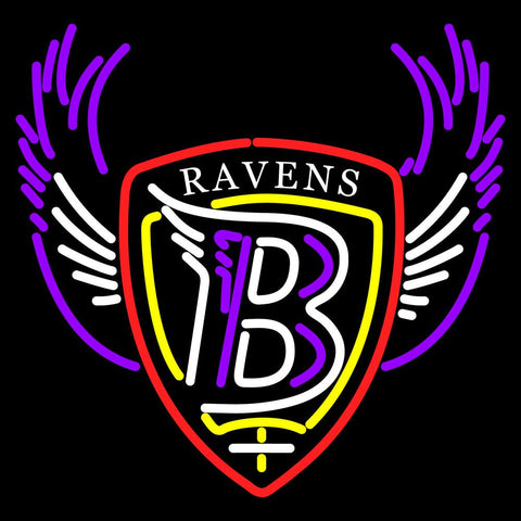 Baltimore Ravens   NFL Logo Neon Sign