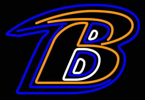 Baltimore Ravens Only B NFL Neon Sign