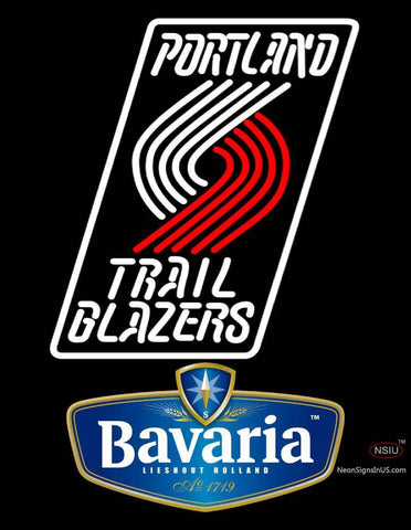 Bavarian Portland Trail Blazers NBA Neon Beer Sign