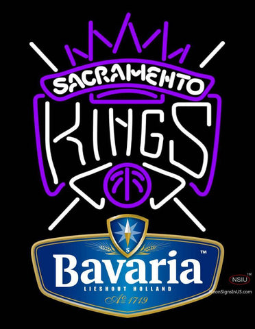Bavarian Sacramento Kings NBA Neon Beer Sign