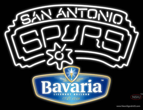 Bavarian San Antonio Spurs NBA Neon Beer Sign