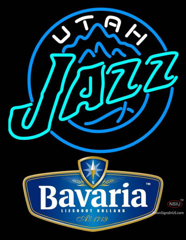 Bavarian Utah Jazz NBA Neon Beer Sign