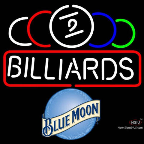 Blue Moon Ball Billiard Text Pool Neon Beer Sign   x