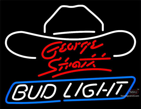 Bud Light Large George Strait Neon Beer Sign