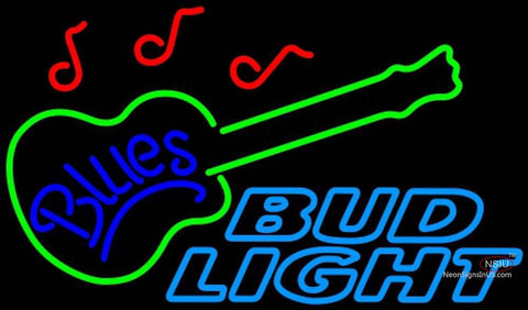 Bud Light Neon Blues GUITAR Neon Sign