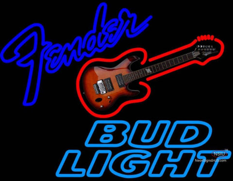 Bud Light Neon Fender GUITAR Neon Sign