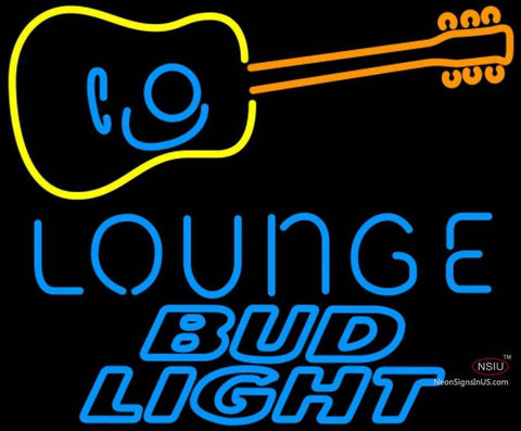 Bud Light Neon GUITAR Lounge Neon Sign